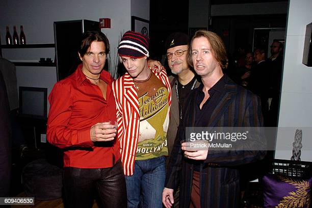Patrick Askin Richie Rich Terry Malone and Scott McArthur attend KolDesign/BoConcept 5th Annual Holiday Party at BoConcept on December 11 2007 in New...