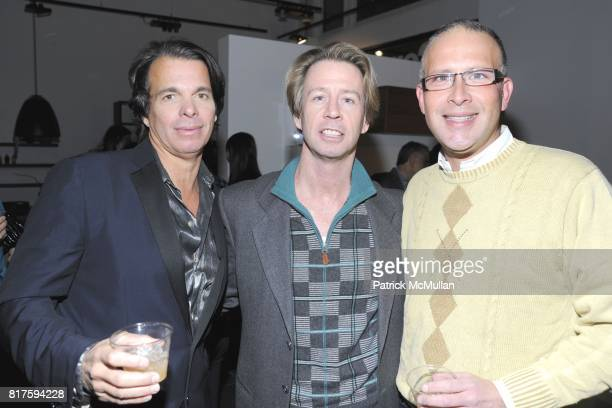 Patrick Askin Scott McArthur and Brandon Montgomery attend 8TH ANNUAL BoCONCEPT/KOLDESIGN HOLIDAY PARTY at BoConcept on December 14 2010 in New York...