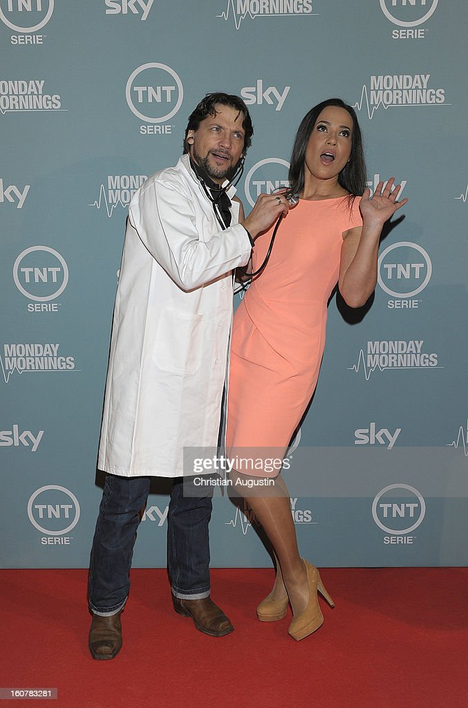 Patrick Bach and Nandini Mitra attend the 'Monday Mornings' Preview Event of TNT Serie at East Hotel on February 5th, 2013 in Hamburg, Germany. The series premieres on February 7th (every Thursday at 8:15 pm on TNT Serie).