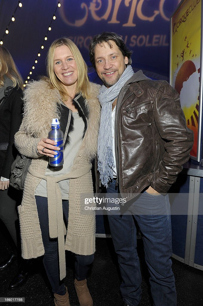 Patrick Back and wife Carola attend Corteo Cirque De Soleil' Premiere on January 9, 2013 in Hamburg, Germany.