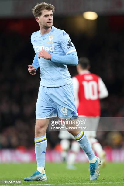 Patrick Bamford of Leeds during the FA Cup Third Round match between Arsenal and Leeds United at Emirates Stadium on January 6 2020 in London England