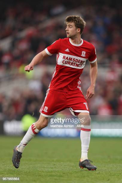 Patrick Bamford of Middlesbrough during the Sky Bet Championship Play Off Semi Final First Leg match between Middlesbrough and Aston Villa at...