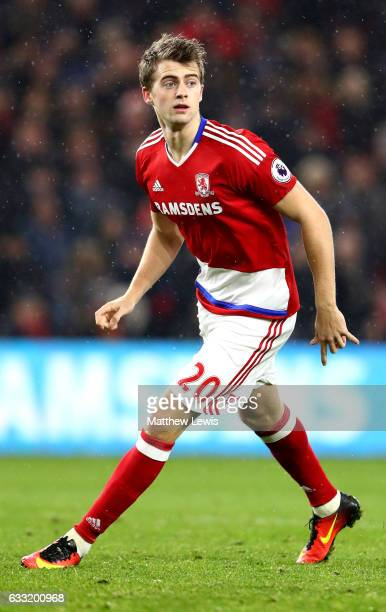 Patrick Bamford of Middlesbrough in action during the Premier League match between Middlesbrough and West Bromwich Albion at Riverside Stadium on...