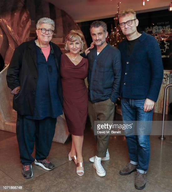 Patrick Barlow John Marquez Lesley Garrett and Hugh Dennis attend the press night performance of The Messiah at The Other Palace on December 11 2018...