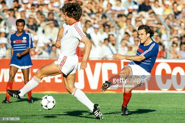Patrick Battiston of France during the Semi Final Football European Championship between France and Portugal Marseille France on 23 June 1984