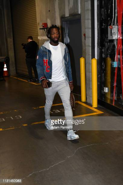 Patrick Beverley of the LA Clippers arrives to the game against the Chicago Bulls on March 15 2019 at STAPLES Center in Los Angeles California NOTE...