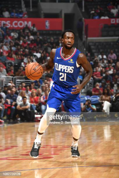 Patrick Beverley of the LA Clippers handles the ball against the Houston Rockets on October 21 2018 at Staples Center in Los Angeles California NOTE...