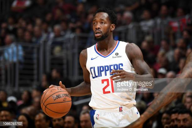 Patrick Beverley of the LA Clippers handles the ball against the Phoenix Suns on November 28 2018 at STAPLES Center in Los Angeles California NOTE TO...