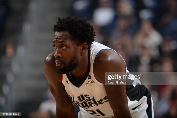 Patrick Beverley of the LA Clippers looks on during the game against the Golden State Warriors on March 10, 2020 at Chase Center in San Francisco,...