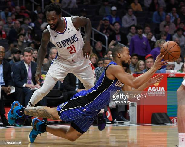 Patrick Beverley of the LA Clippers triped up Isaiah Briscoe of the Orlando Magic who attempted to pass the ball in the second quarter at Staples...