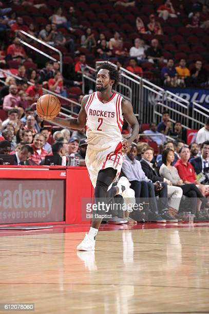 Patrick Beverley of the Houston Rockets brings the ball up court against the Shanghai Sharks during a preseason game on October 2 2016 at the Toyota...