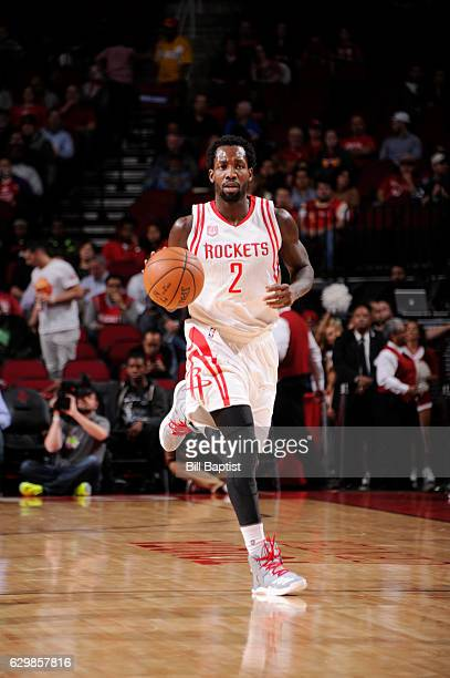 Patrick Beverley of the Houston Rockets brings the ball up court against the Sacramento Kings during the game on December 14 2016 at the Toyota...