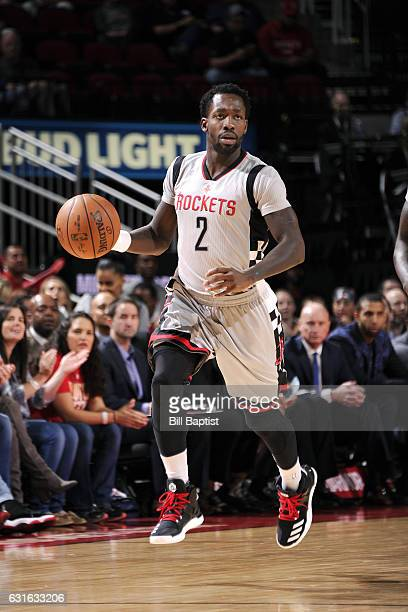 Patrick Beverley of the Houston Rockets brings the ball up court during the game against the Memphis Grizzlies on January 13 2017 at the Toyota...