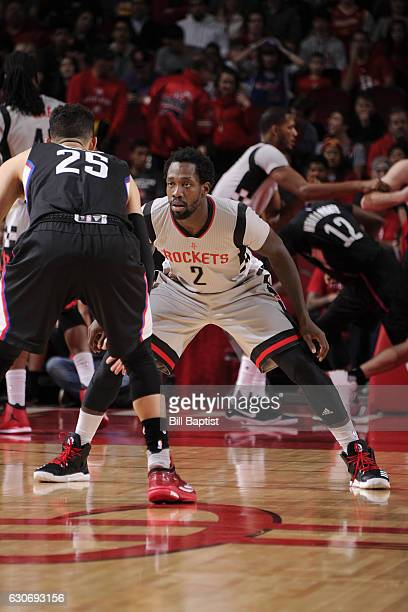 Patrick Beverley of the Houston Rockets defends against the LA Clippers on December 30 2016 at the Toyota Center in Houston Texas NOTE TO USER User...