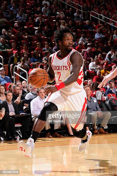 Patrick Beverley of the Houston Rockets handles the ball against the Sacramento Kings on April 13 2016 at the Toyota Center in Houston Texas NOTE TO...