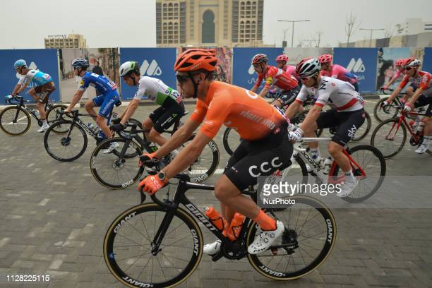 Patrick Bevin of CCC Team seen during the start line of the sixth Rak Properties Stage of UAE Tour 2019 a 180km with a start from Ajman and finish in...