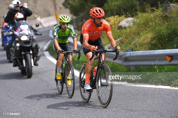 Patrick Bevin of New Zealand and CCC Team / Mikel Bizkarra Etxegibel of Spain and Team Euskadi Basque Country-Murias / during the 74th Tour of Spain...