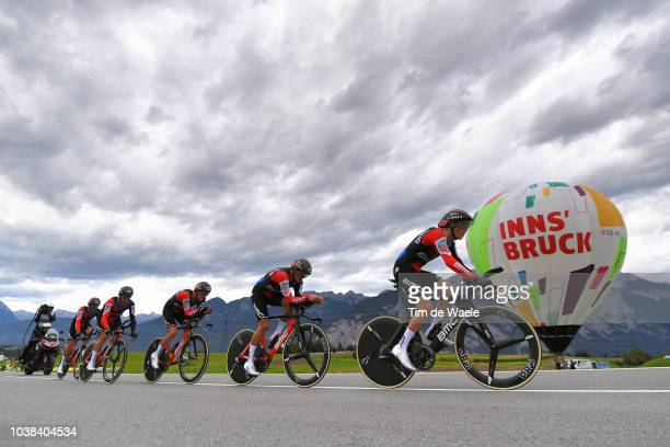 Patrick Bevin of New Zealand / Damiano Caruso of Italy / Rohan Dennis of Australia / Stefan Kung of Switzerland / Greg Van Avermaet of Belgium /...