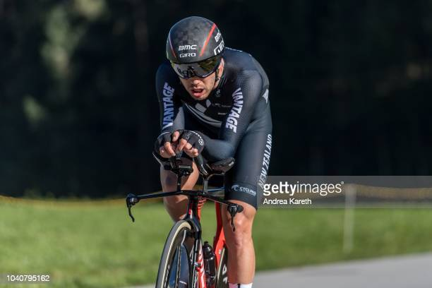Patrick Bevin of New Zealand during the Men Elite Individual Time Trial of UCI 2018 Road World Championships on September 26 2018 in InnsbruckTirol...
