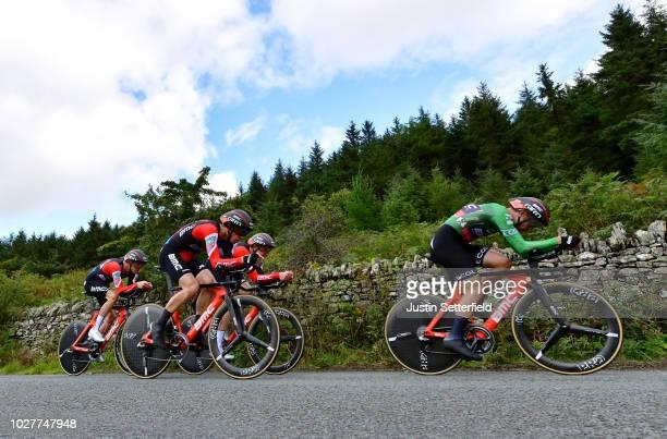 Patrick Bevin of New Zealand Green Leader Jersey / Stefan Kung of Switzerland / Jean-Pierre Drucker of Luxembourg / Jurgen Roelandts of Belgium /...