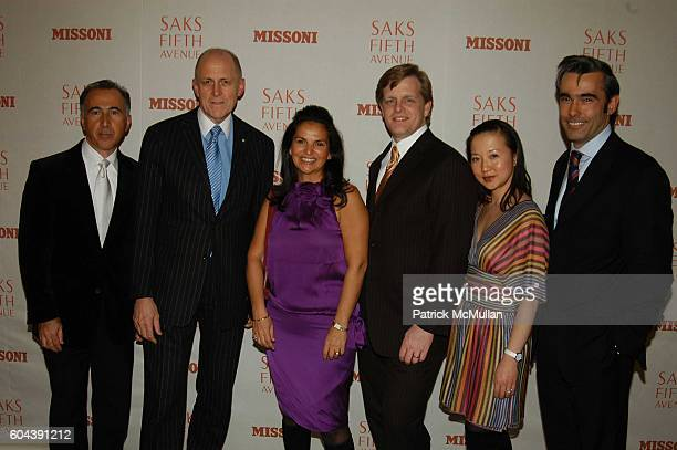 Patrick BousquetChavanne Andrew Jennings Veronique GabaiPinsky Rob Wallstrom Diane Kim and Fabrice Weber attend Saks Fifth Avenue and Margherita...