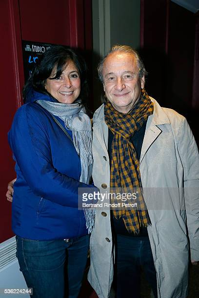 Patrick Braoude and his wife Guila Braoude attend L'oiseau Bleu at Theatre Hebertot on May 31 2016 in Paris France