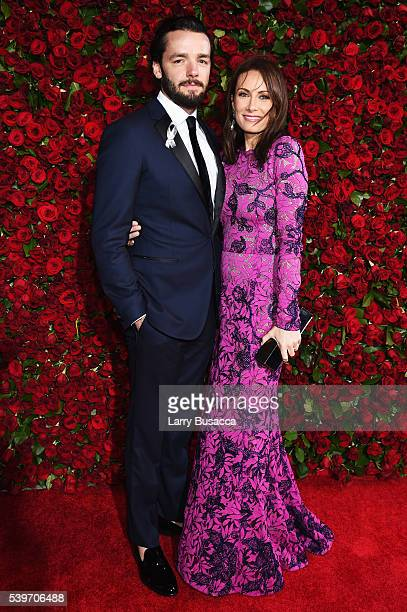 Patrick Brown and Actress Laura Benanti attend the 70th Annual Tony Awards at The Beacon Theatre on June 12 2016 in New York City