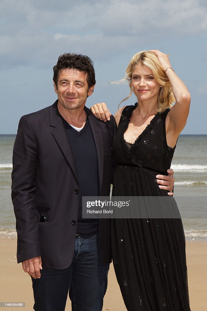 Patrick Bruel and Alice Taglioni pose as they attend the 26th Cabourg Romantic Film Festival on June 16, 2012 in Cabourg, France.