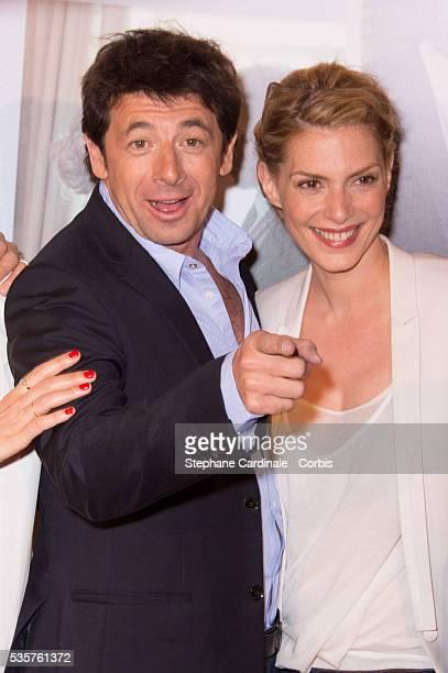Patrick Bruel and Judith El Zein attend the Premiere of Le Prenom in Paris