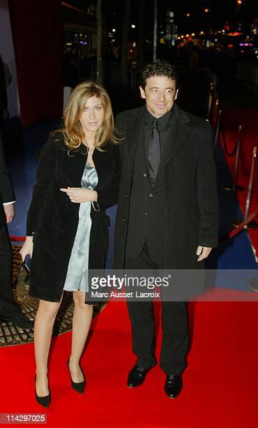 Patrick Bruel and wife Amanda Sthers during 32nd Cesar Awards Ceremony Arrivals at Theatre du Chatelet in Paris France