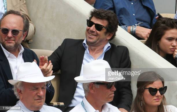 Patrick Bruel attends the men's final during day 15 of the 2019 French Open at Roland Garros stadium on June 9 2019 in Paris France