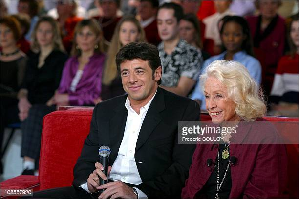 Patrick Bruel Danielle Darrieux in Paris France on February 02nd 2003