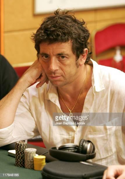 Patrick Bruel during 2004 World Poker Tour Grand Prix de Paris Day 2 at Aviation Club de France in Paris France
