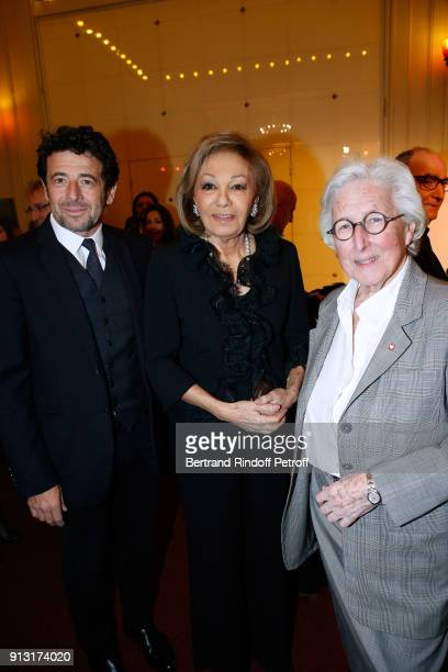 Patrick Bruel HIH Empress Farah Pahlavi and President of the Mecenat Chirurgie Cardiaque Professor Francine Leca attend the Heart Gala Evening to...