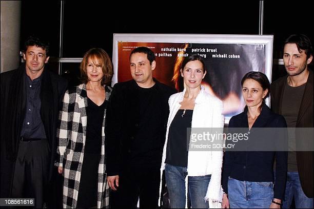 Patrick Bruel Nathalie Baye Thierry Klifa Geraldine Pailhas Anouk Grinberg Michael Cohen in Paris France on February 09th 2004