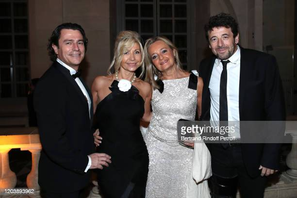 Patrick Bruel Natty Tardivel and guests attend the 20th Gala Evening of the Paris Charter Against Cancer for the benefit of the International...