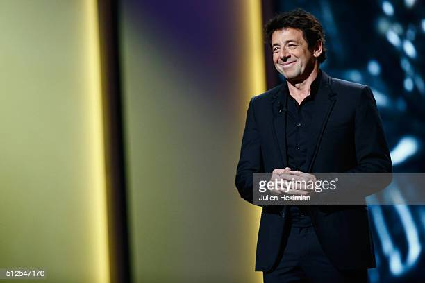 Patrick Bruel on stage during The Cesar Film Award 2016 at Theatre du Chatelet on February 26 2016 in Paris France