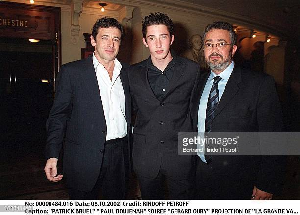 Patrick Bruel ' Paul Boujenah' 'Gerard Oury' film screening of 'La Grande Vadrouille' at the Garnier opera