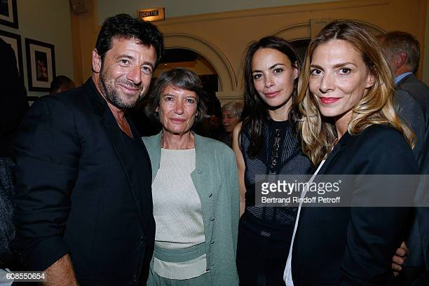 Patrick Bruel Veronique Cayla actress of the play Berenice Bejo and Judith El Zein attend the Tout ce que vous voulez Theater Play at Theatre Edouard...