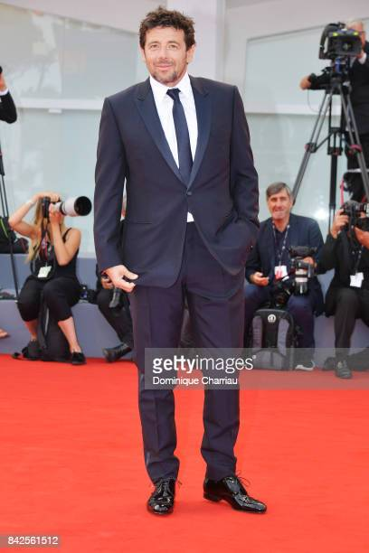 Patrick Bruel walks the red carpet ahead of the 'Una Famiglia' screening during the 74th Venice Film Festival at Sala Grande on September 4 2017 in...