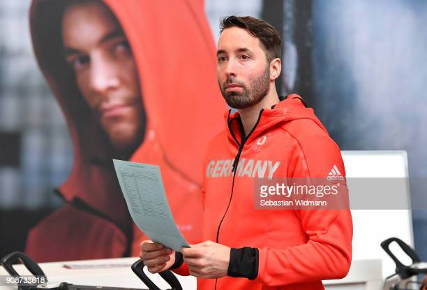 Patrick Bussler looks on during the 2018 PyeongChang Olympic Games German Team kit handover at Postpalast on January 22 2018 in Munich Germany