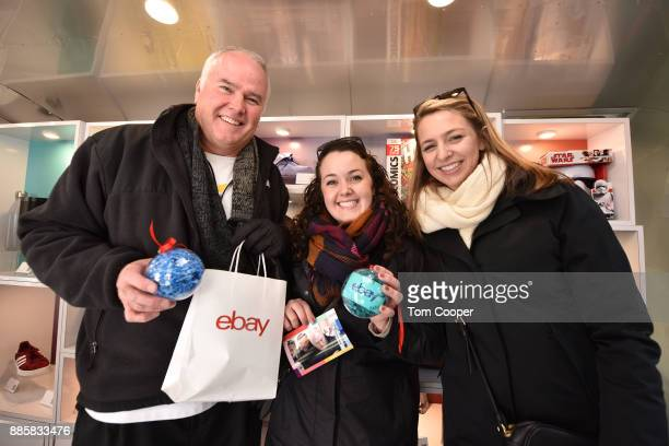 Patrick Cannan Colleen Cannan Julie Guerra of Buffalo New York winning an set of Apple Airpods and a fifty dollar Ebay gift card on the Ebay claw...