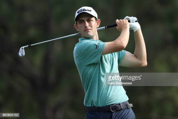 Patrick Cantlay hits off the 17th tee during the final round of the Valspar Championship at Innisbrook Resort Copperhead Course on March 12 2017 in...