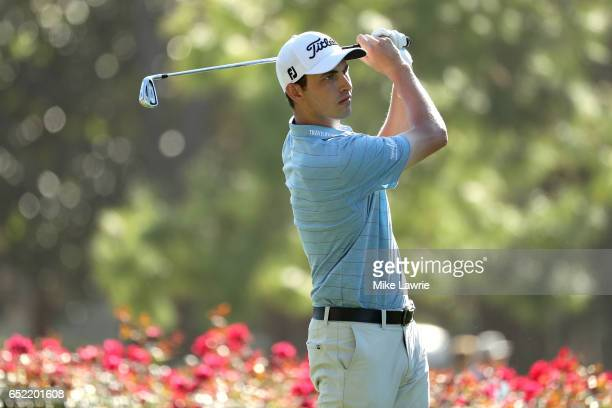 Patrick Cantlay hits off the 17th tee during the third round of the Valspar Championship at Innisbrook Resort Copperhead Course on March 11 2017 in...