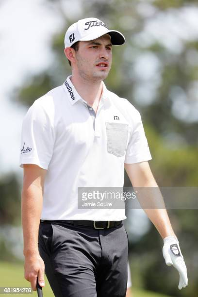 Patrick Cantlay of the United States looks on from the 16th tee during the first round of THE PLAYERS Championship at the Stadium course at TPC...