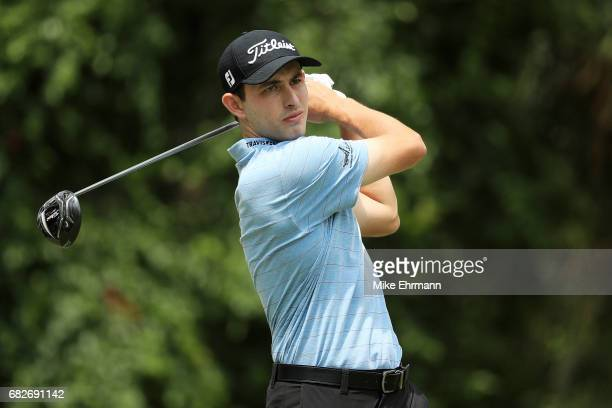 Patrick Cantlay of the United States plays his shot from the second tee during the third round of THE PLAYERS Championship at the Stadium course at...