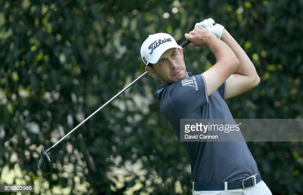 Patrick Cantlay of the United States plays his tee shot on the par 4 12th hole during the second round of the World Golf ChampionshipsMexico...