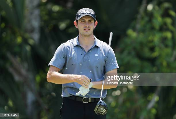 Patrick Cantlay of the United States stands on the 15th tee during the second round of THE PLAYERS Championship on the Stadium Course at TPC Sawgrass...