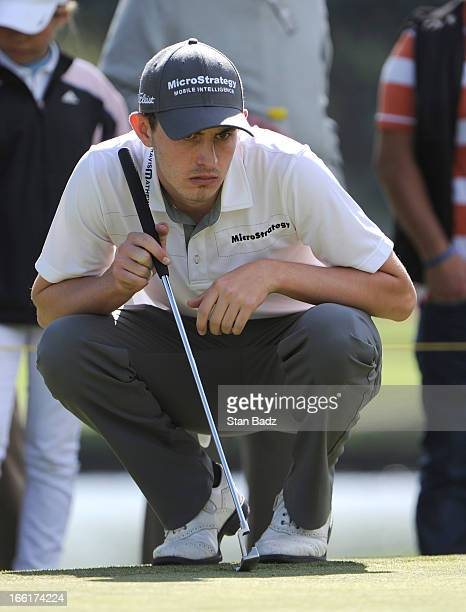 Patrick Cantlay plays the 17th hole during the third round of the Colombia Championship at Country Club de Bogota on March 2 2013 in Bogota Colombia