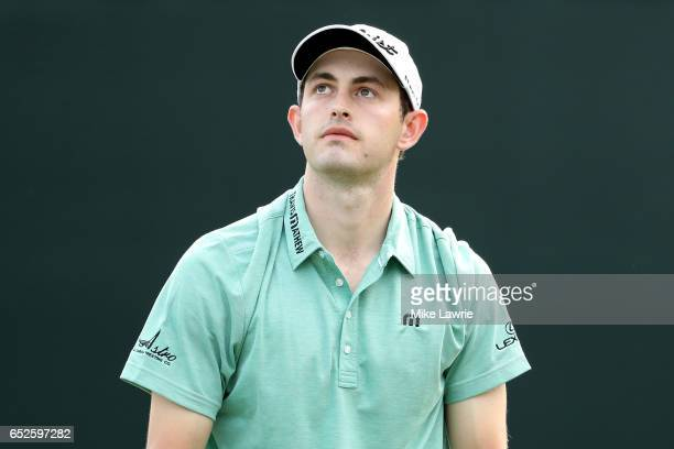 Patrick Cantlay reacts on the 18th green during the final round of the Valspar Championship at Innisbrook Resort Copperhead Course on March 12 2017...